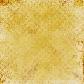 Gold Damask Print Royalty Free Stock Photo