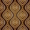 Gold damask Royalty Free Stock Photo