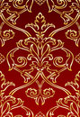 Gold Damask style wallpaper Royalty Free Stock Image