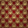 Gold and dark red damask background
