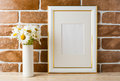 Gold Decorated Frame Mockup Wi...