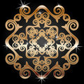 Gold decoration element Royalty Free Stock Photo