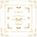 Gold decorative  elements Stock Photography