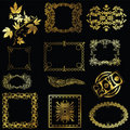 Gold design elements Stock Image