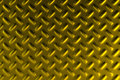 Gold dirty checkered steel plate