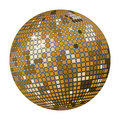 Gold disco ball Stock Images