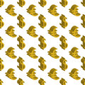 Gold dollar and euro money small sizes. Seamless pattern. Vector illustration