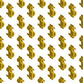 Gold dollar money small sizes. Seamless pattern. Vector illustration
