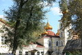 Gold dome orthodox church Stock Images