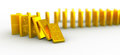 Gold domino euro Royalty Free Stock Photos