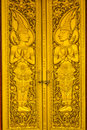 Gold door of temple Royalty Free Stock Images