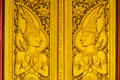 Gold door of temple Royalty Free Stock Image