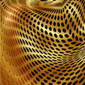 Gold dots abstract background pattern fractal illustration ornate background Stock Photo