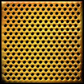 Gold dotted metal background Royalty Free Stock Photo