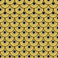 Gold dragon scales pattern background Stock Photography