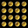 Gold drop document icons Stock Images