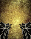 Gold Element for design. Template for design. copy space for ad brochure or announcement invitation, abstract background Royalty Free Stock Photo
