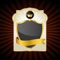 Gold emblem Royalty Free Stock Images