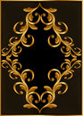 Gold(en) frame with pattern Stock Photos