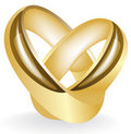 Gold(en) wedding ring insulated Stock Photography