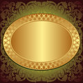 Gold end brown background Stock Image