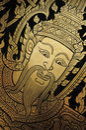 Gold Engraving - Traditional Thai Art Royalty Free Stock Photos