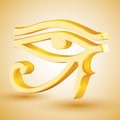 Gold eye of horus vector illustration Stock Photo