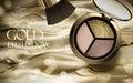 Gold eyeshadow ad