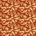 Gold f seamless pattern Stock Photo