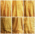 Gold fabric backgrounds. Royalty Free Stock Photography