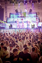 Gold Fever Amnesia Ibiza Festival in Moscow Royalty Free Stock Photo