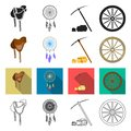Gold, fever, history and other web icon in different style., travel, wild, west, icons in set collection. Royalty Free Stock Photo