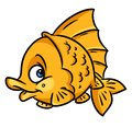 Gold fish cartoon illustration Royalty Free Stock Photo