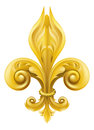 Gold Fleur-de-lis design Stock Images