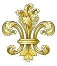 Gold fleur-de-lys Royalty Free Stock Photo