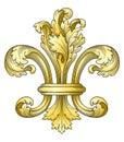 Gold fleur-de-lys