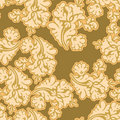 Gold floral seamless Royalty Free Stock Image