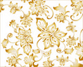 Gold Flower Background Pattern Stock Photos