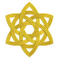Gold flower knot double Trinity