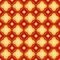 Gold flower on red background seamless patterns