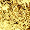Gold foil curved