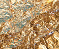 Gold foil texture Royalty Free Stock Image