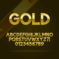 Gold Font and Numbers Royalty Free Stock Images