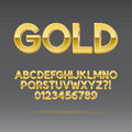 Gold font and numbers eps vector editable for any background Stock Images