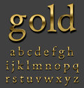 Gold   font Royalty Free Stock Photo