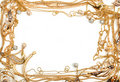 Gold frame Royalty Free Stock Photography