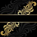 Gold frame abstract floral background Stock Images