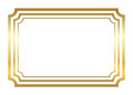 Gold frame. Beautiful simple golden style