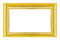 Gold frame. Gold/gilded arts and crafts pattern picture frame. Royalty Free Stock Photo
