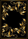 Gold  frame in the Gothic style. Frame. Stock Images